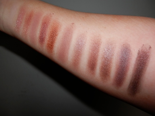 Comparison: Revolution Palette - shades have no name